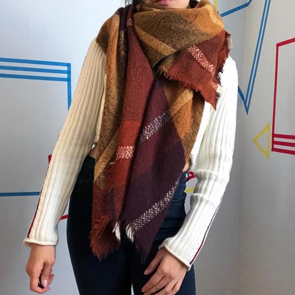 Zara Plaid Blanket Scarf